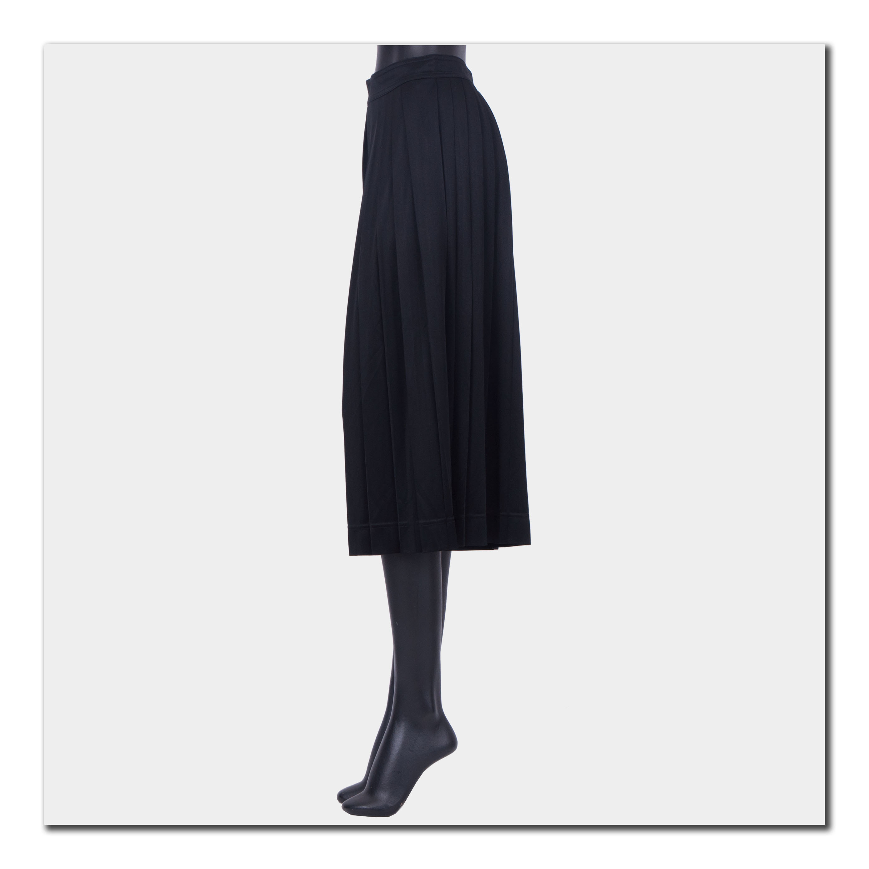 ae53160ef2da Details about CELINE by Phoebe Philo 1440$ New Pleated Skirt Pants In Fluid  Black Jersey