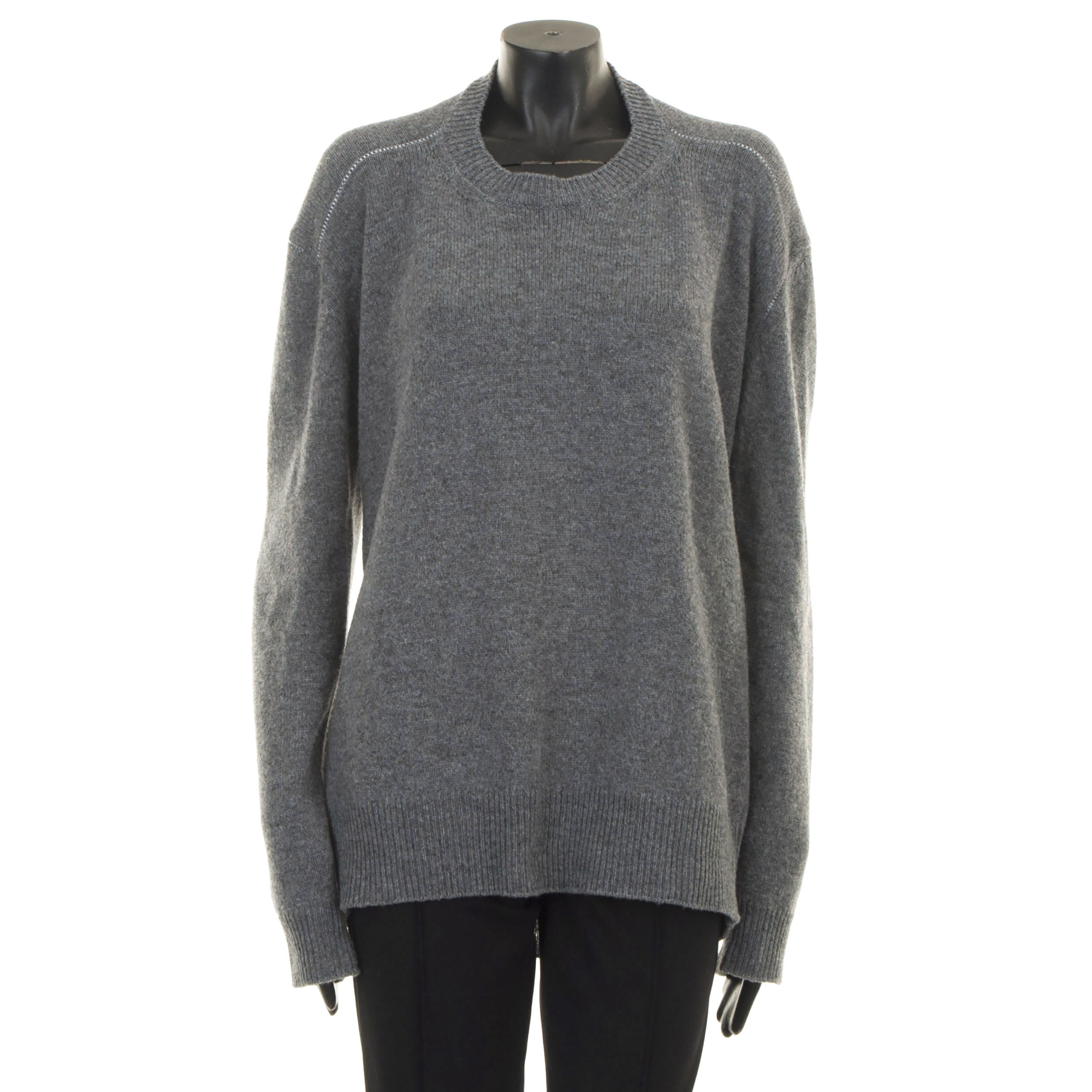 Details about CELINE by Phoebe Philo 940$ New Crew Neck Sweater In Seamless Gray Wool