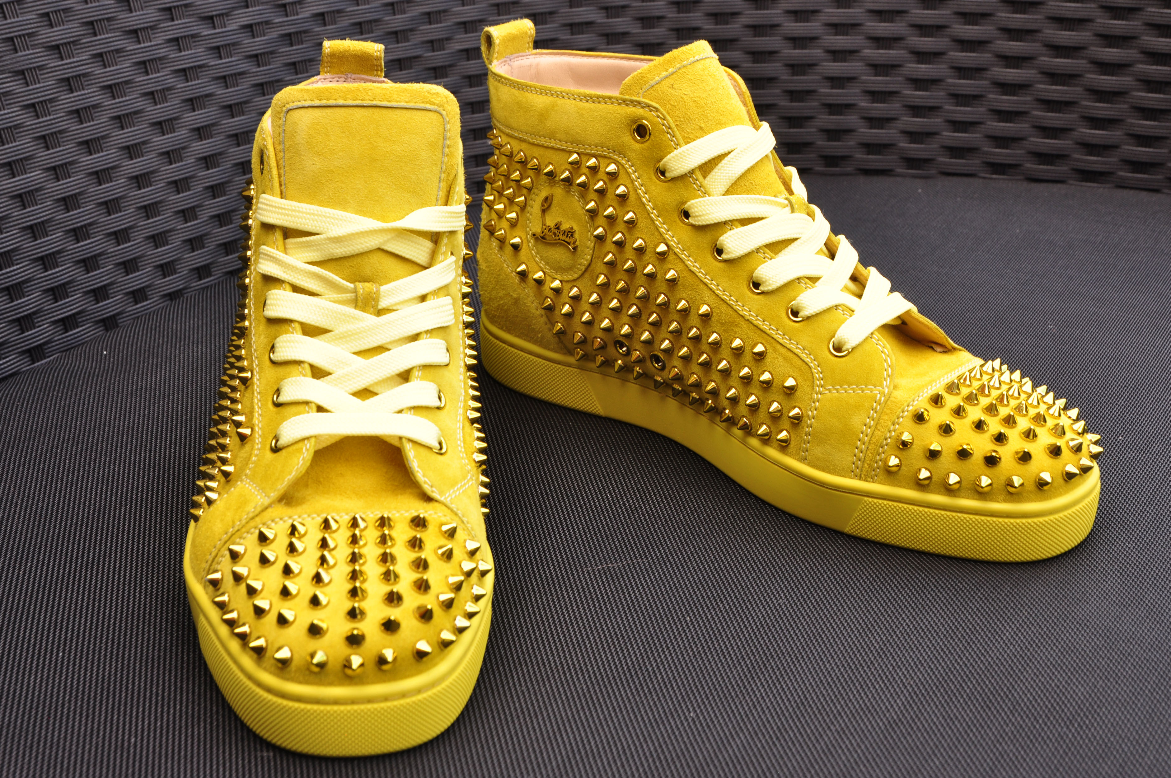 286b99218b4 CHRISTIAN LOUBOUTIN Authentic New Suede Mimosa Louis Metallic Spike ...