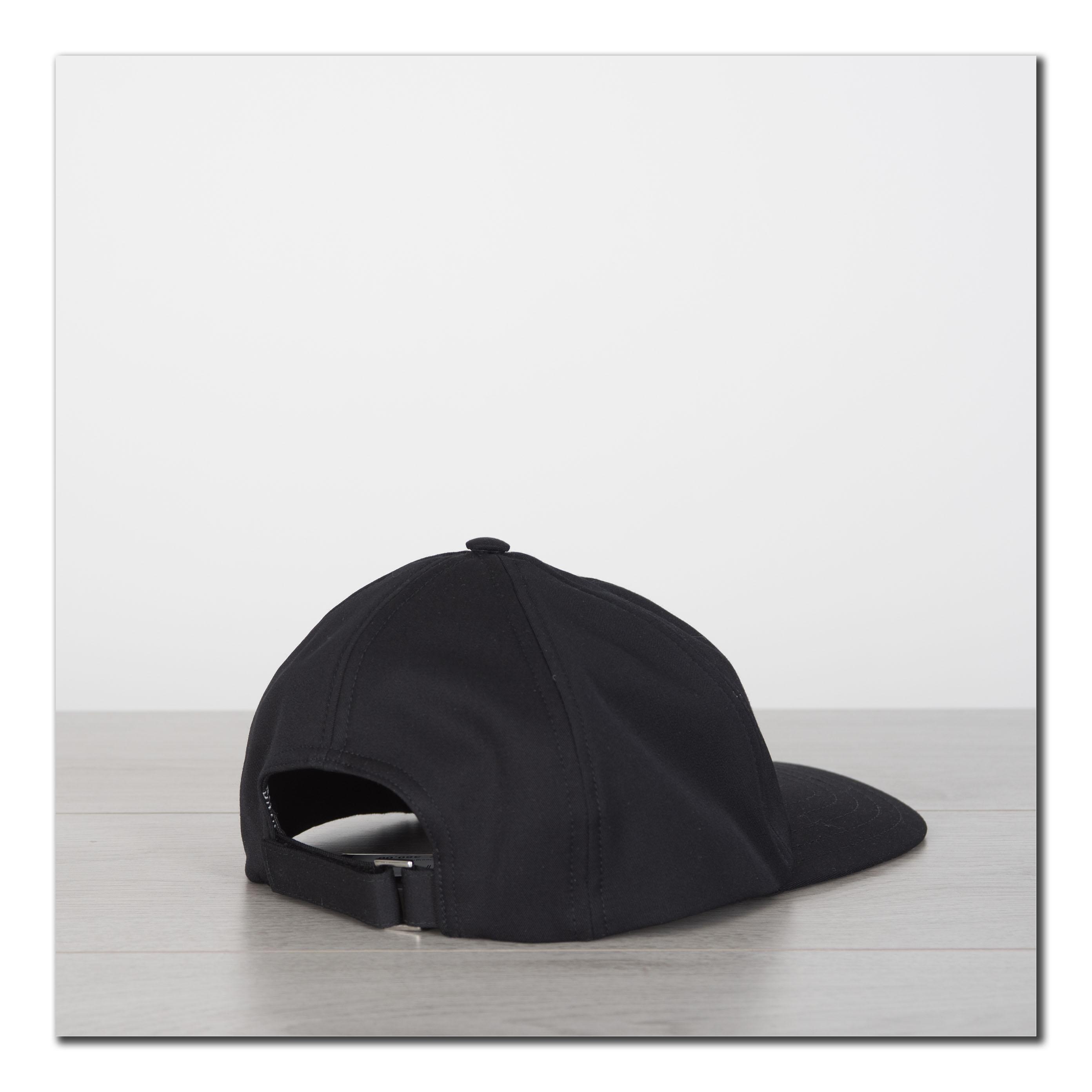 1a3cdfdeabc DIOR HOMME 480  Black Virgin Wool Baseball Cap with HARDIOR ...