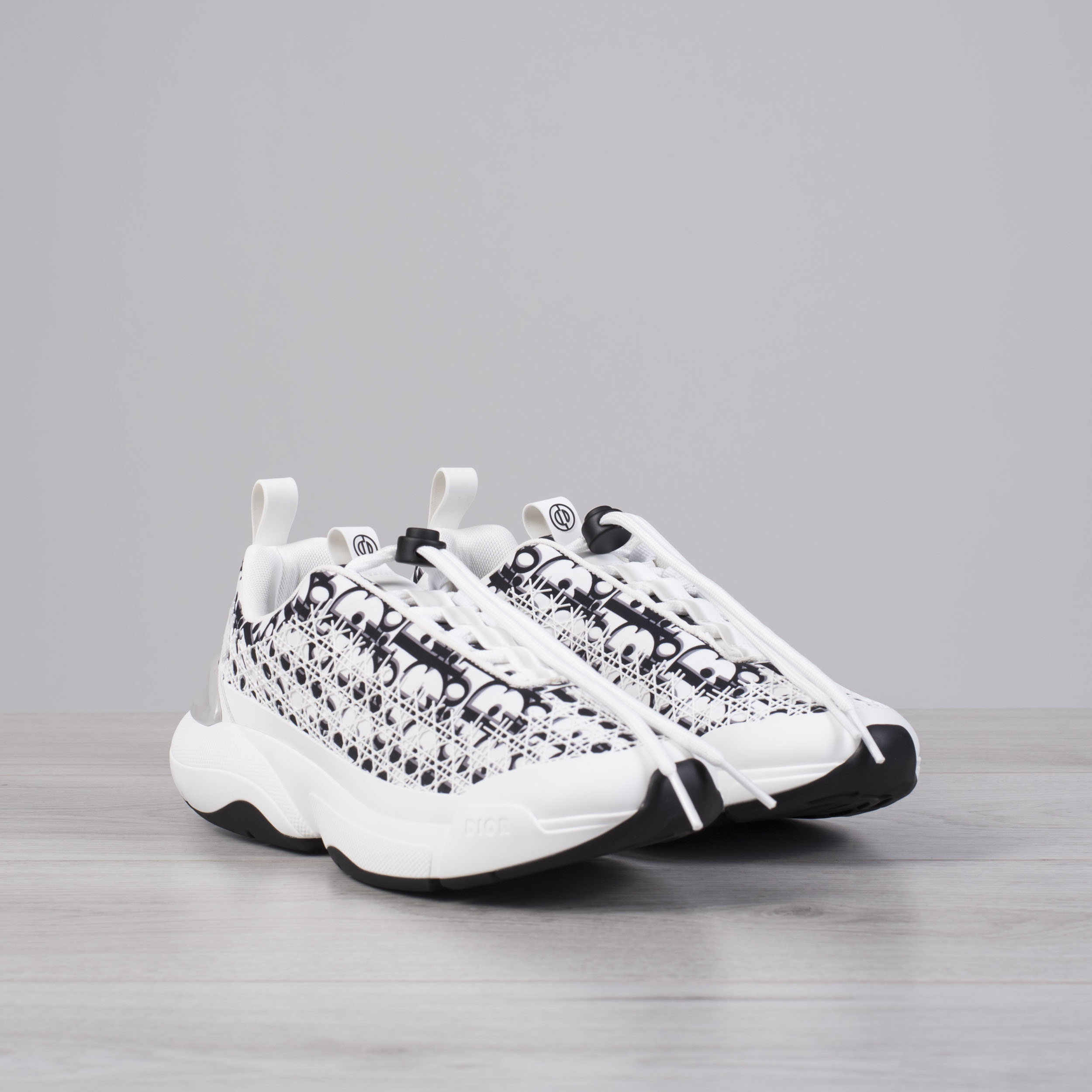 b610b85b8c DIOR HOMME 1050$ White Dior Oblique 'B24' Sneakers With Cannage ...