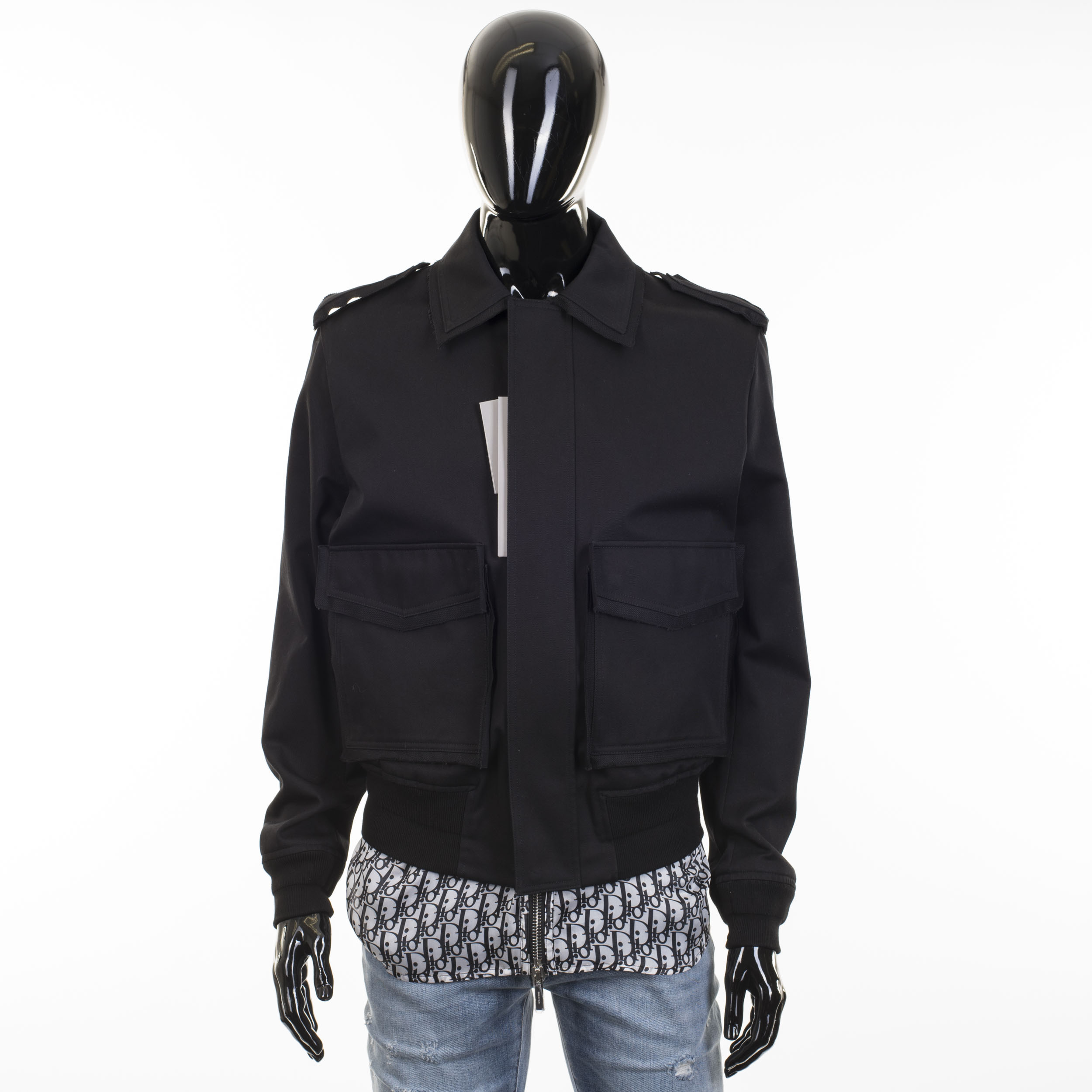 80925766 DIOR HOMME 2500$ Cotton Jacket With Silk Dior Oblique Layered Lining ...
