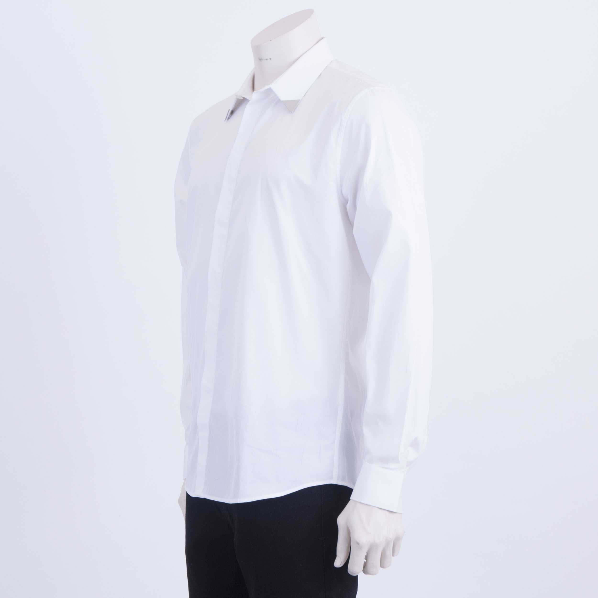 600 Givenchy Authentic White Cotton Dress Shirt With Metallic