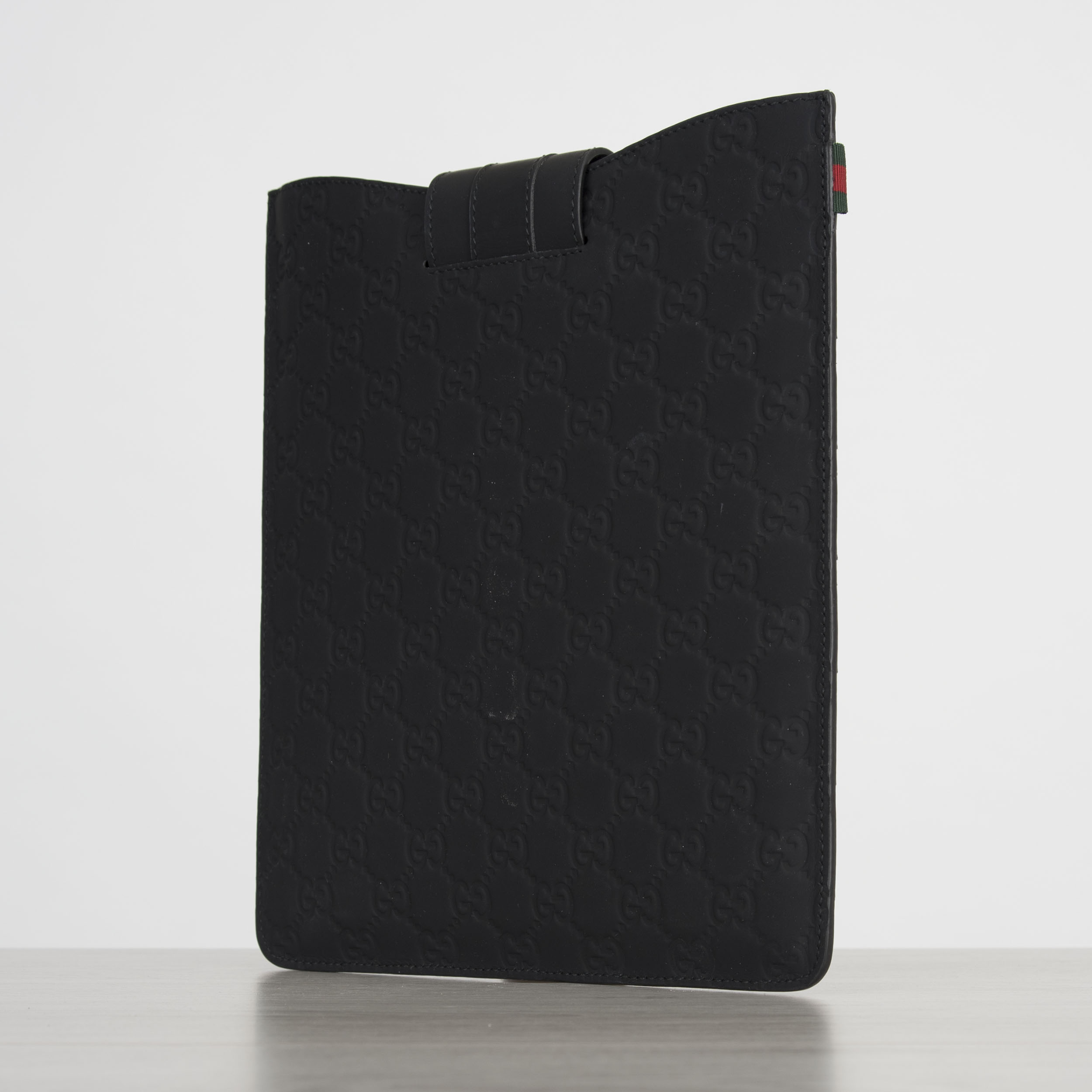 236881f87dc 350  Authentic New GUCCI Black Rubberized Guccissima Leather iPad ...