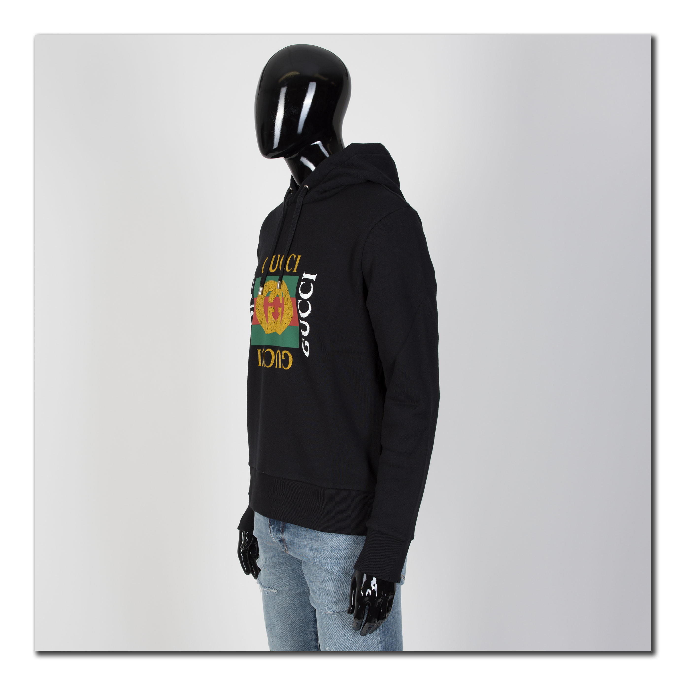 d58b4161582 GUCCI 1280  Oversize Sweatshirt With Vintage Gucci Logo In Black