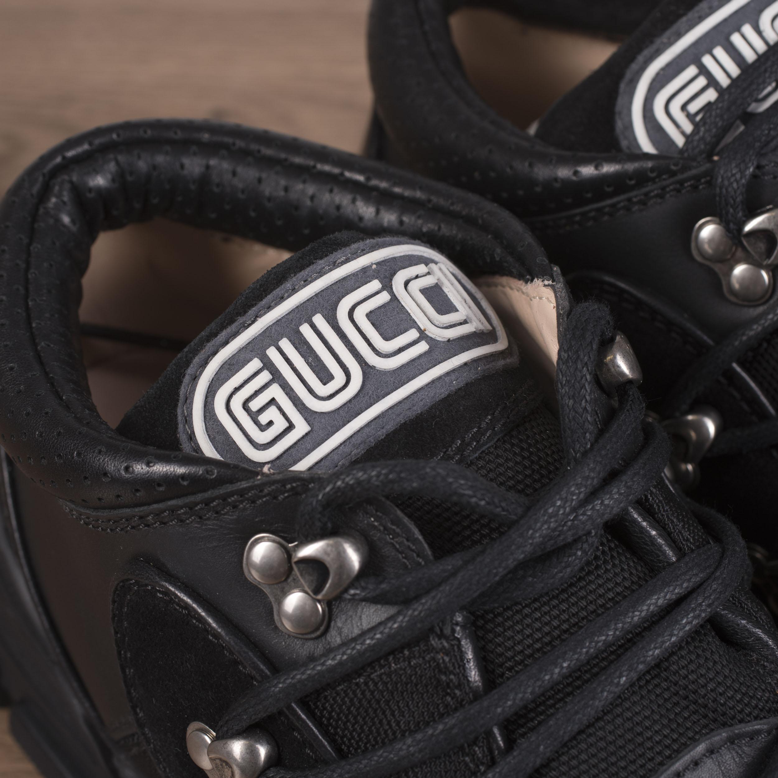 8c49b08ea GUCCI x SEGA 980$ Flashtrek Sneakers In Black Canvas, Leather ...
