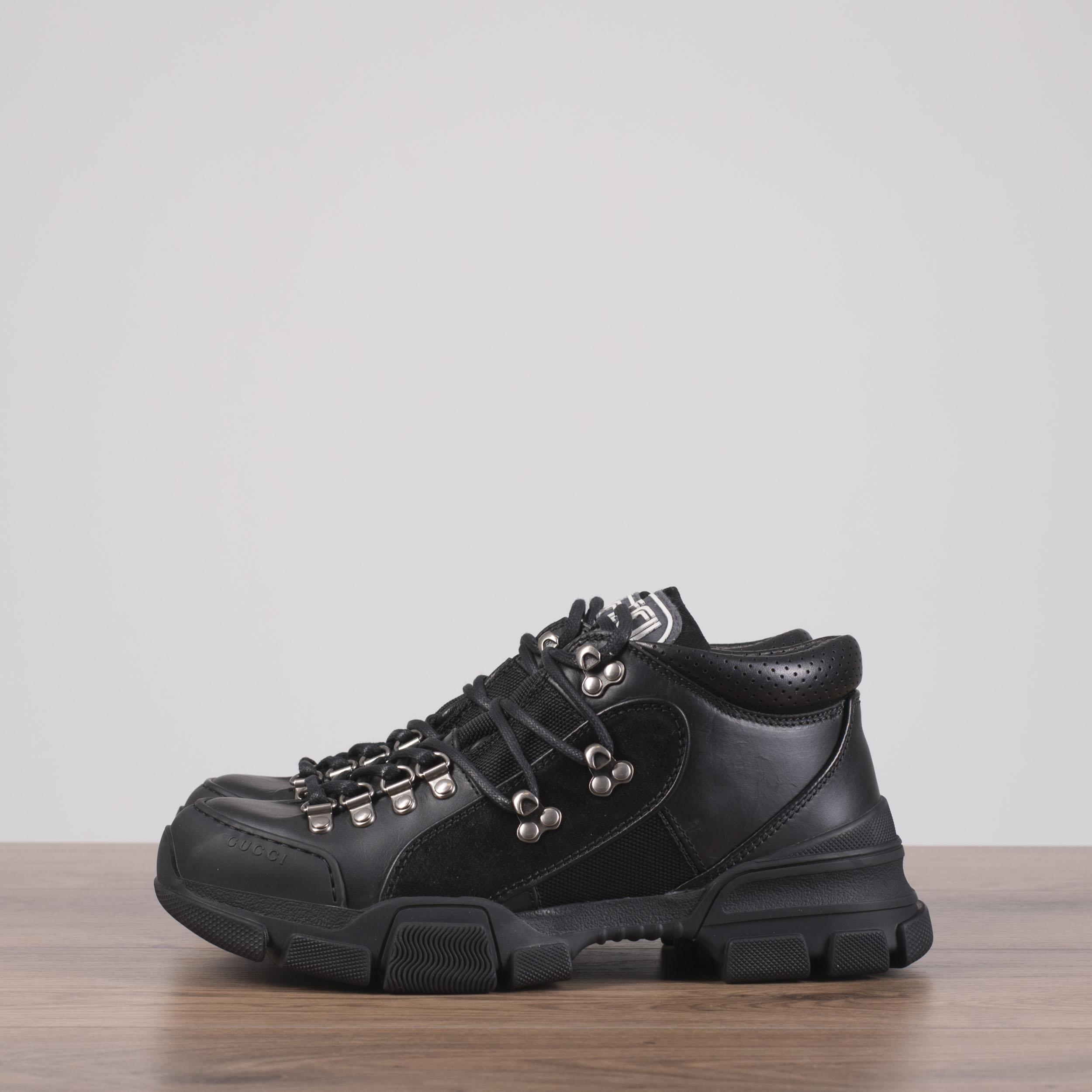 b68e7edf4 GUCCI x SEGA 980$ Flashtrek Sneakers In Black Canvas, Leather ...