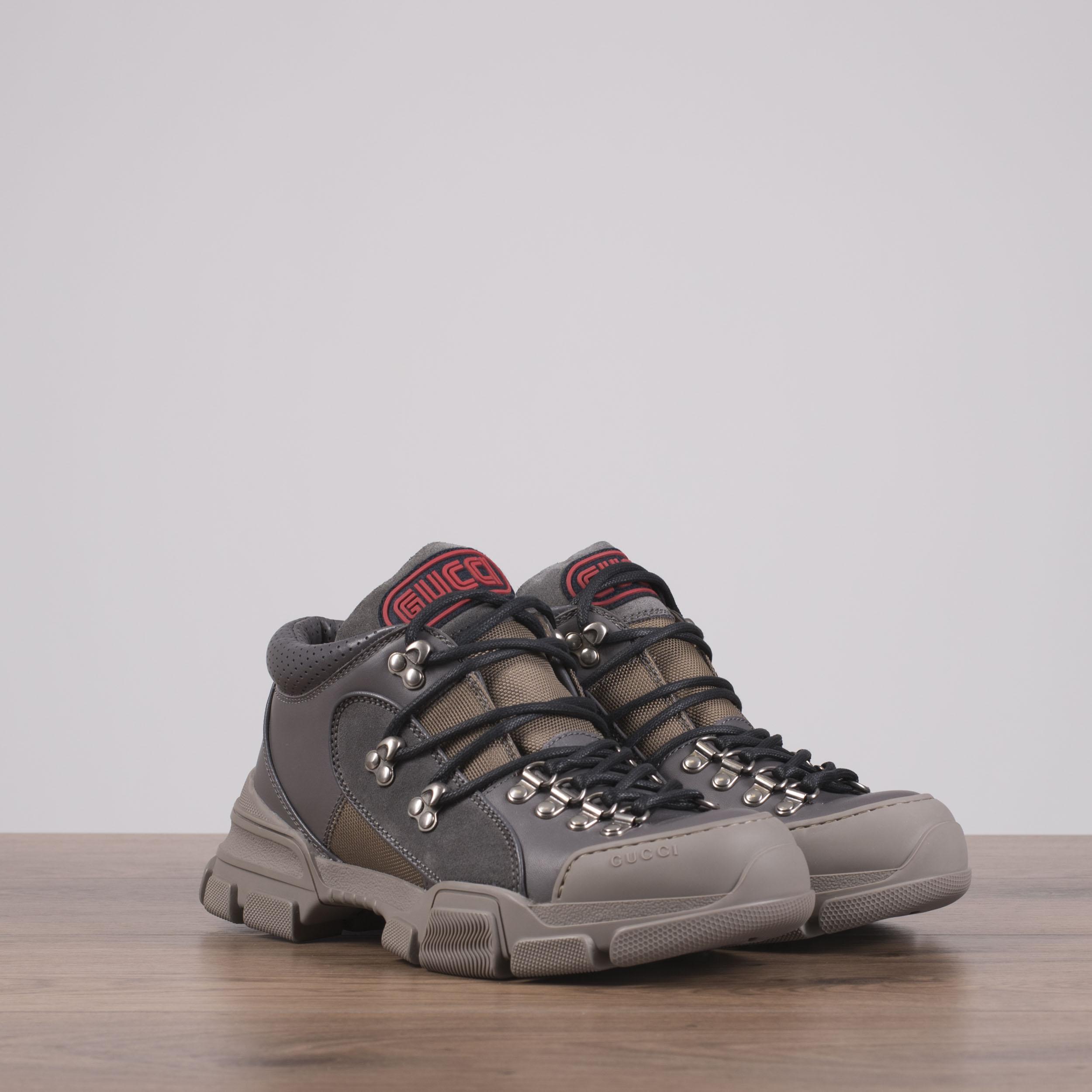 bd58b2ca7 GUCCI x SEGA 980$ Flashtrek Sneakers In Grey Canvas, Leather & Suede ...