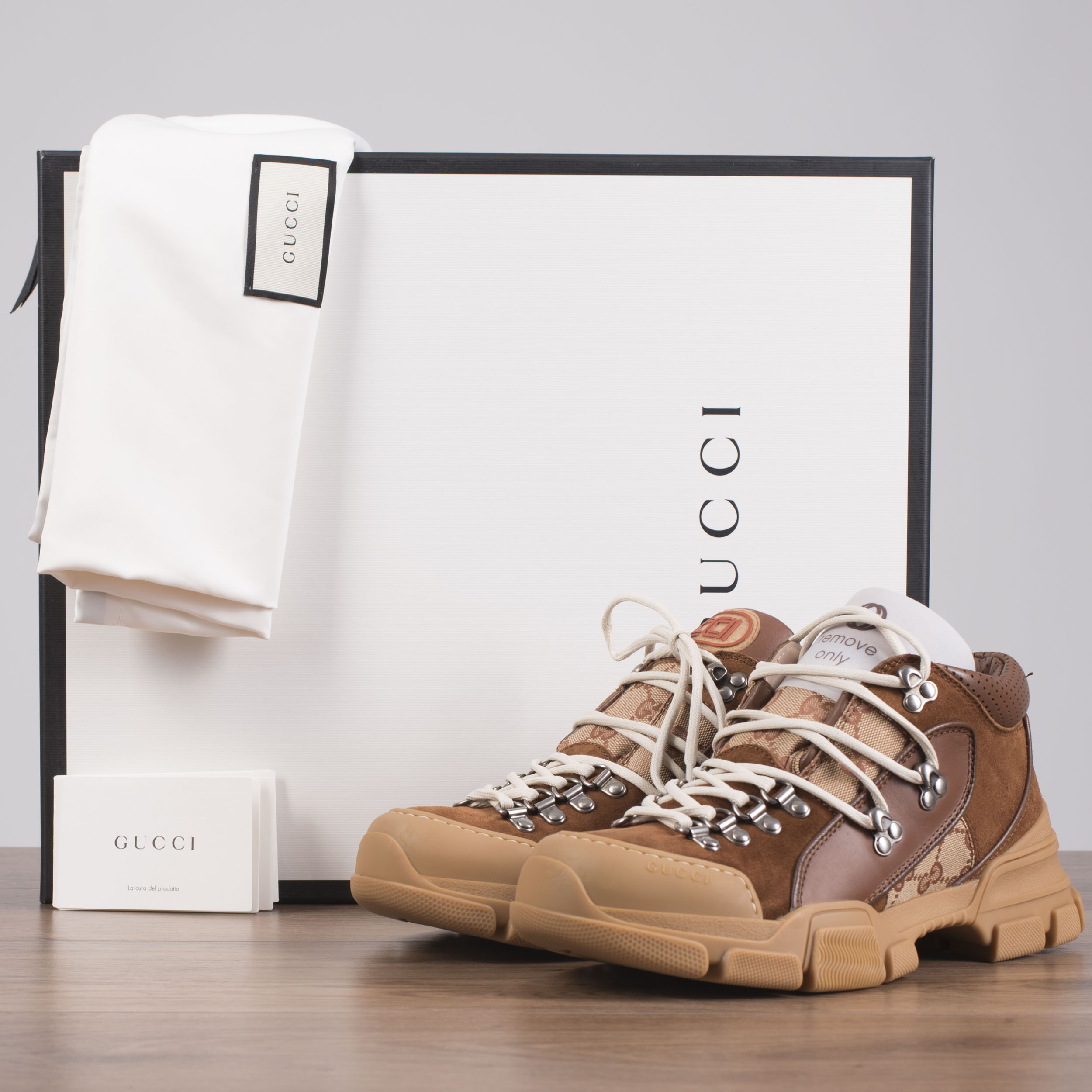329890481 GUCCI x SEGA 980$ Flashtrek Sneakers In Brown GG Canvas, Leather ...