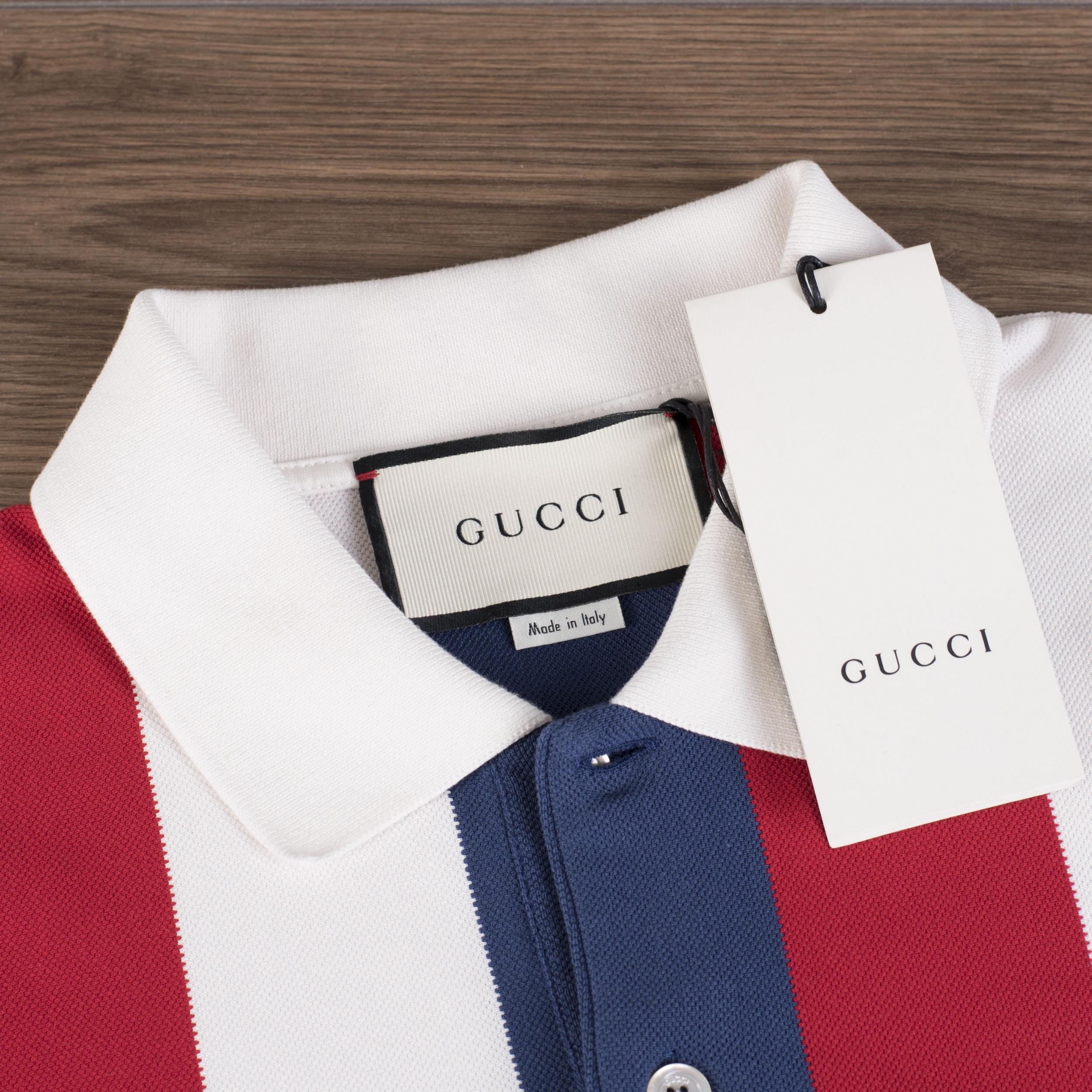 d72446bfac6 GUCCI 850  Baiadera Logo Polo Shirt In White