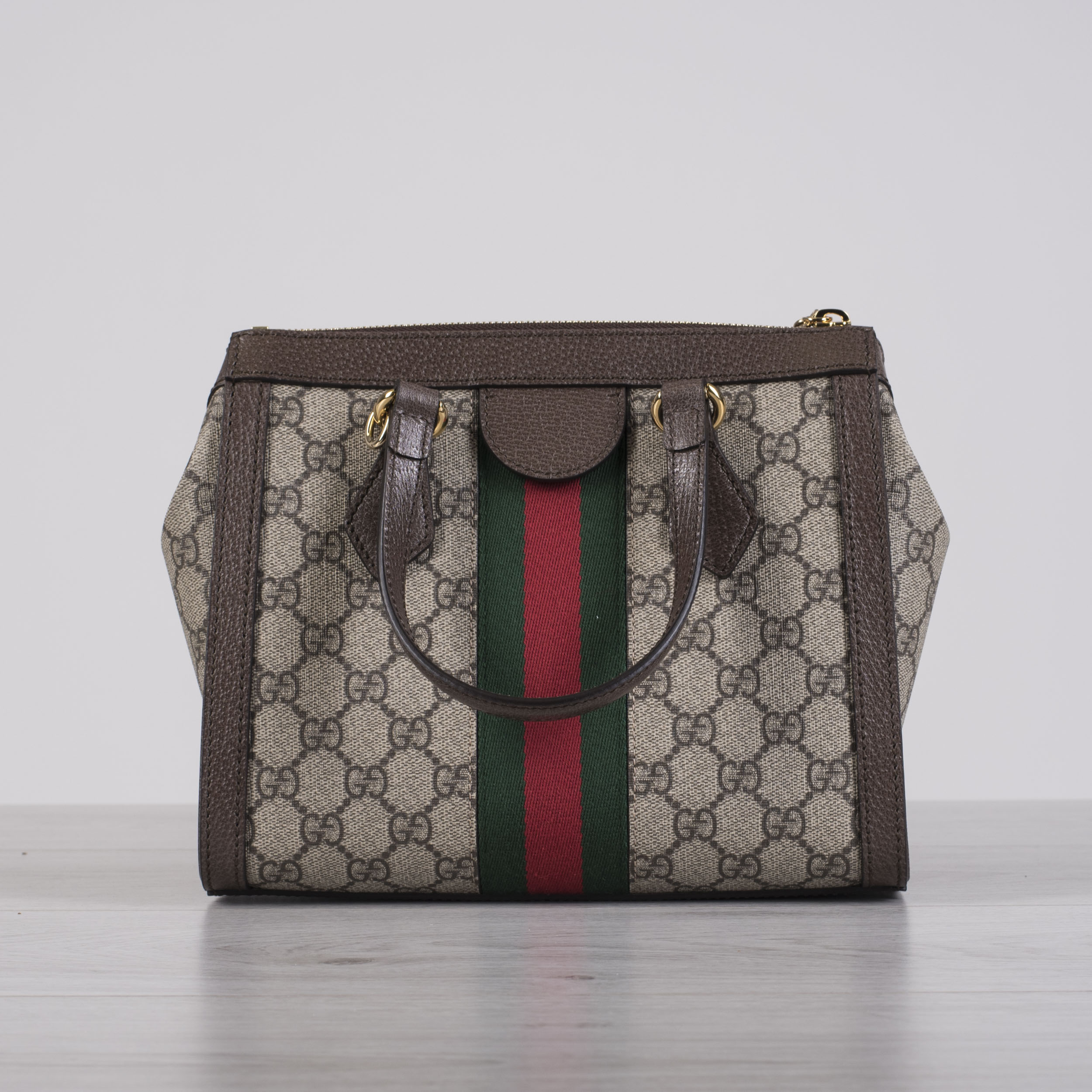 dd306ef37 Details about GUCCI 1790$ Small Ophidia GG Tote Bag In Beige/Ebony GG  Supreme Canvas