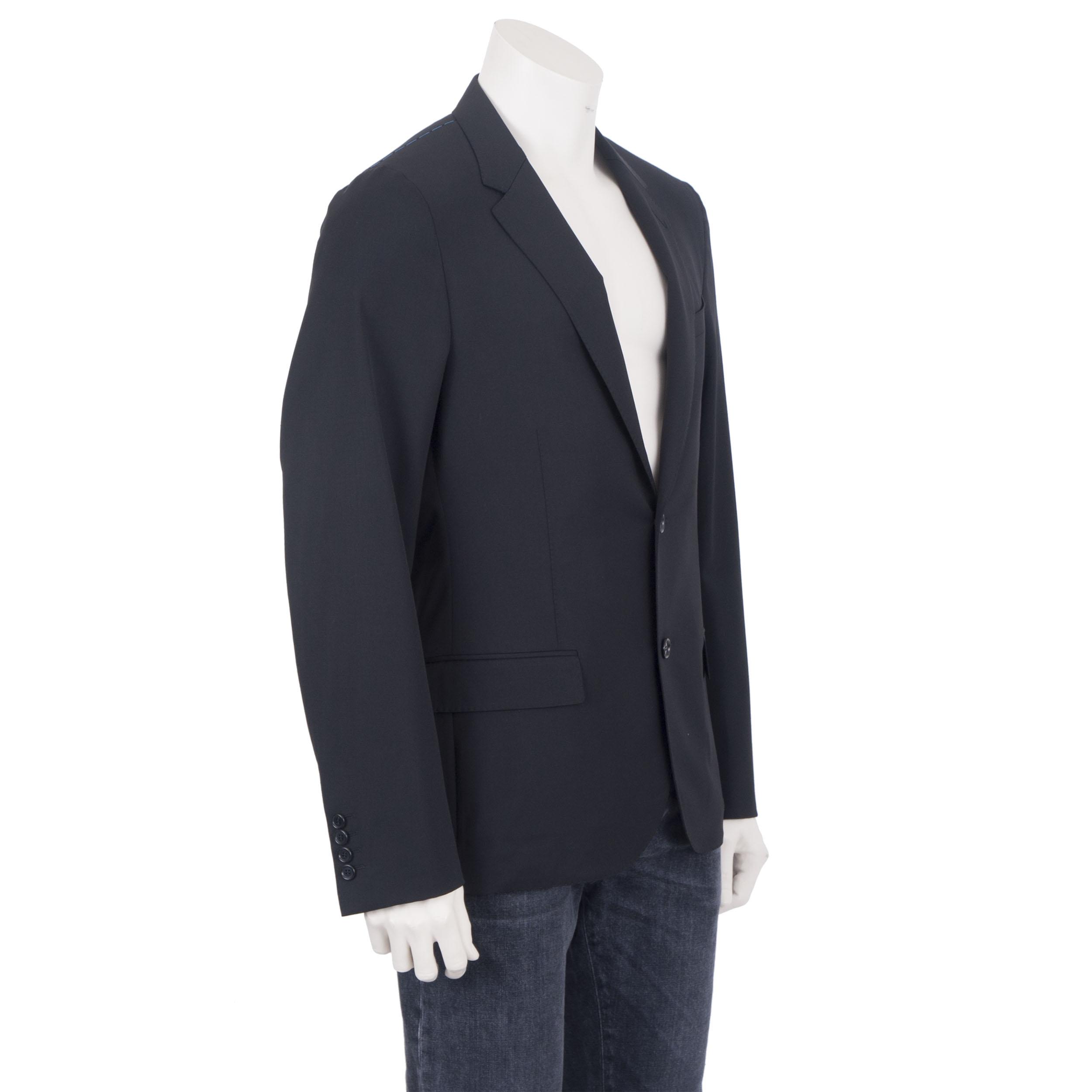 LANVIN 1950$ Authentic New Black Wool Lightweight Tailored Blazer Jacket