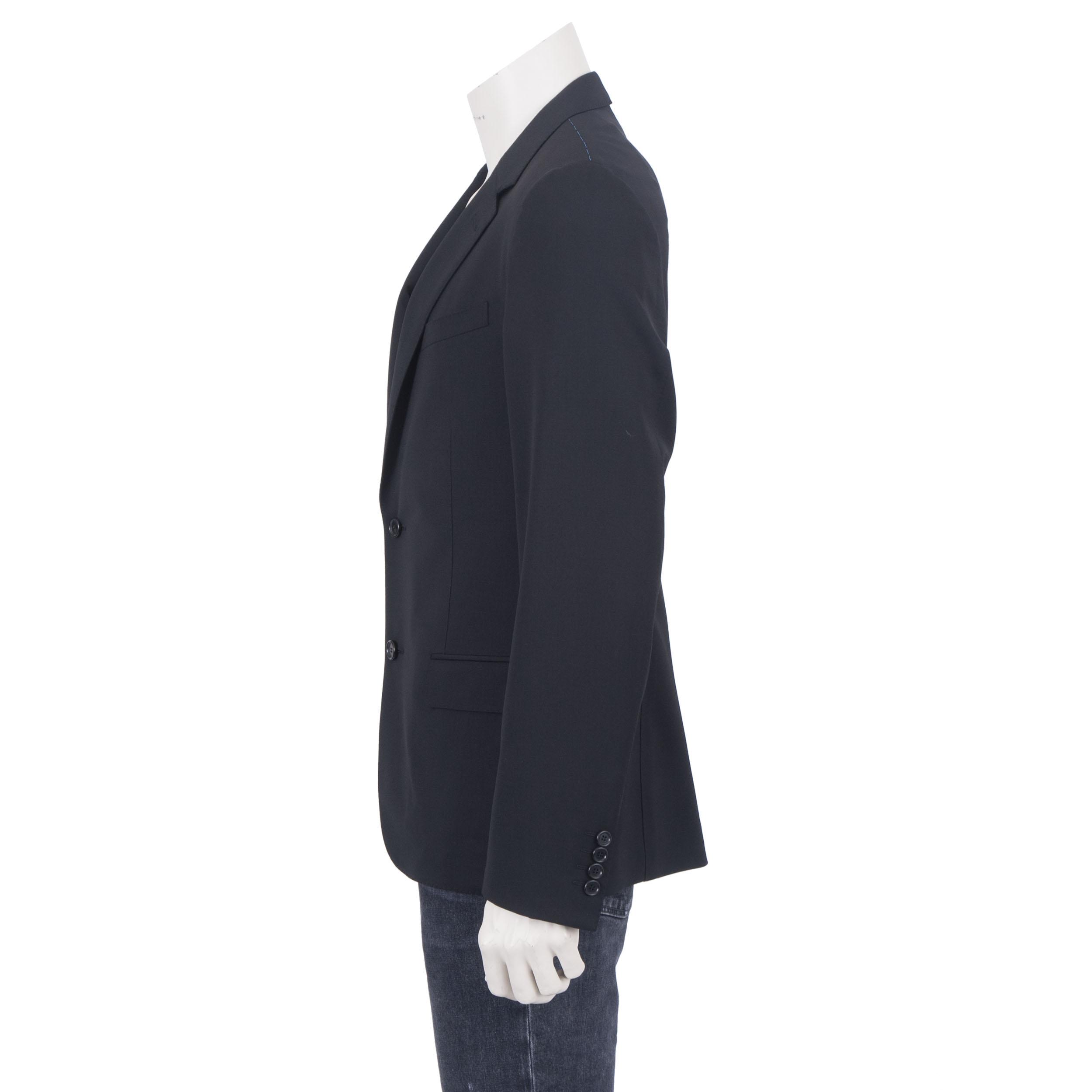 LANVIN 1950$ Authentic New Navy Blue Wool Lightweight Tailored Blazer Jacket